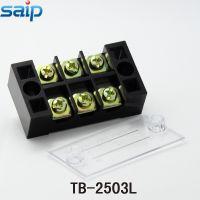 供应通用接线端子TB-2503L、saip固定式接线端子排、25A3位接线排