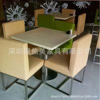 广州天河城茶餐厅定做餐椅、金属餐椅、软包皮面餐椅到深圳椅子厂