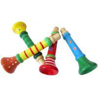 经典好玩木制益智音乐玩具 木制小喇叭 小唢呐 口哨玩具