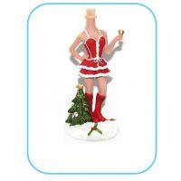 圣诞装扮女孩 照片定制Q版仿真人工艺品  树脂公仔厂家