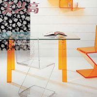 供应透明亚克力桌子 商场桌子 珠宝店铺有机玻璃桌子 压克力餐桌