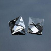 水晶珠帘 客厅隔断 水晶帘长条 玄关灯帘装饰 切面透明三角条