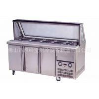 带玻璃盖的冷藏比萨柜/售后服务好/厂家直销保鲜点菜柜