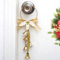 圣诞节铁艺金属圆形自由钟铃铛高档商场酒店装饰挂件批发