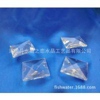 现货供应 厂家直销 40mm全手工水晶四方珠 水晶装潢用品