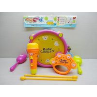 婴儿玩具乐器套装-沙锤,麦克风,爵士鼓,铃鼓SL00060823