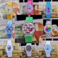 清爽夏日 可爱水果系列之冰爽西瓜女士石英表 透明塑胶手表批发
