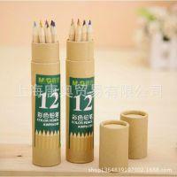 晨光文具 AWP34308彩色铅笔 12色一盒牛皮纸包装专业绘图书写工具