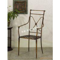 滢发田园铁艺椅子 时尚休闲咖啡桌椅 成套可折叠桌椅