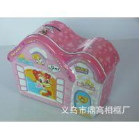 义乌鼎高特别制作房子型存钱罐(图),粉红色。