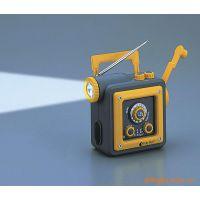 正品斯特林#5818多功能手摇发电收音机手电筒  手摇充电器