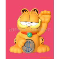 环保 混批 卡通塑料招财猫 广告促销礼品玩具 酒店招财用品系列