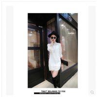 1738#2015春款新品孕妇装韩版花边半高领孕妇裙子孕妇蕾丝打底衫