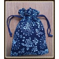 厂家供应 涤纶青花束口布袋 抽绳袋礼品布袋 DIY饰品袋包装袋批发