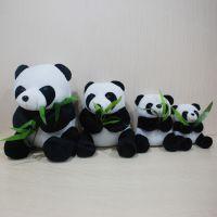 熊猫   厂家直销现货玩具定做公仔玩具抱竹叶仿真熊猫玩具批发