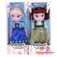 冰雪奇缘芭比娃娃 艾莎安娜童年版玩偶手办彩盒玩具大号40cm 批发