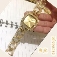 速卖通亚马逊货源 高端奢华镶钻女士链条手表 商务时尚手链表