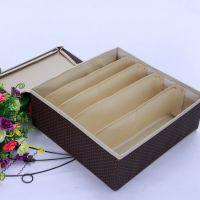 专业提供 咖啡色波点加大折叠硬盖文胸盒 卡通收纳盒 文件收纳盒