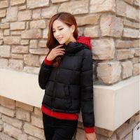 素颜 2014冬装新款糖果色假两件高领修身款时尚棉衣 厂家直销