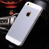 新款iphone5s后盖双色边框高光金边网络金属外壳v后盖壳手机壳手机切换器图片