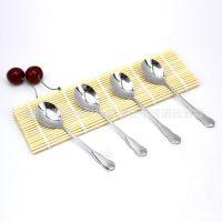 聚佳特供不锈钢刀叉勺 西餐用具水滴圆勺尖勺 水果叉 大小规格