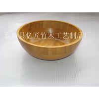 工厂直销工艺竹碗 拼接竹碗 出口品质 大口径碗 沙拉碗 竹盘