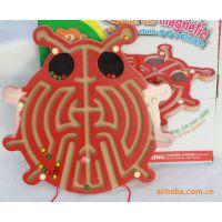 木制玩具 磁性迷宫 运笔迷宫 金龟子迷宫 儿童玩具