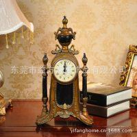 欧式家饰仿古宫庭时钟摆件 客厅书房装饰品摆设