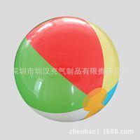 专业生产直径45cm彩色丝印环保6P-pvc卡通透明led发光充气沙滩球