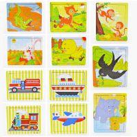 20片大号款卡通木制木质儿童拼图版 宝宝早教益智力2-3-4岁玩具