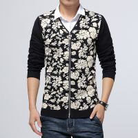 2014厂家直销韩版潮流爆款男式针织衫 西装领针织开衫男式针织