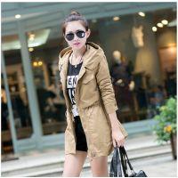 正品2014新款 韩国时尚修身中长款女风衣外套女学生秋季外套