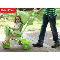 正品 费雪三轮车带车斗 儿童脚踏车自行车手推车小孩婴儿童车骑行