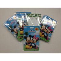 厂家订制迪士尼硬PVC行李牌 PVC吊牌 箱包行李牌 吊牌 吊饰