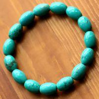 【款】批发天然湖北绿松石手链 美国绿松石饰品 水晶礼品赠品
