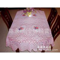 供应印花方格西餐桌布200X140cm