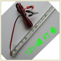DC12V硬灯条 直流电瓶照明灯带0.5米 蓄电池用LED灯条白光