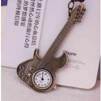 创意挂表装饰挂件 毛衣挂件古铜钥匙扣表挂件表 大吉他