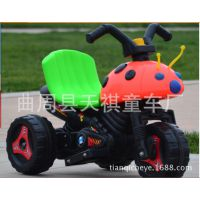 热销甲壳虫儿童电动三轮车儿童电动摩托车儿童电瓶车童车赠品批发