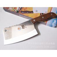 GM0012木柄砍骨刀 钢砍刀 高级原木厨用刀 斩刀 阳江刀0013