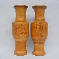 巨匠厂家定制天然欧式环保碳化大肚竹子花瓶