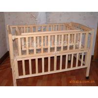 批发ST268康贝儿婴儿床实木童床 加独立书架摇篮宝宝床环保无漆