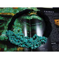 盛记宝石 6层绿松石/紫玉/黄水晶/紫莹//红玻璃碎石项链 可订做