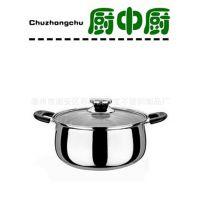 厂家直销不锈钢欧式弧型锅礼品汤锅带磁汤锅