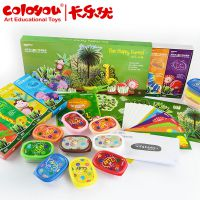 婴幼儿教具 启蒙玩具 儿童礼盒 3岁卡乐优艺术彩泥系列-快乐丛林