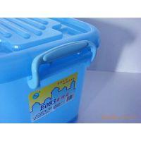 柳叶批发 滑轮塑料整理箱 可洗收纳箱盒 多功能储物箱 杂物周转箱