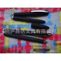 厂家批发黑色经典签字笔 新款插套喷胶中性笔 办公文具 广告水笔