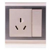 西门子子三孔插座带开关16A一位三孔开关插座空调热水器开关面板