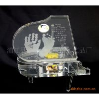 供应水晶个性化照片钢琴模型,水晶钢琴,