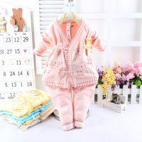 批发宇悦纯棉 宝宝婴儿新生儿线衣毛衣 纱衣套装 童针织衫开档012
